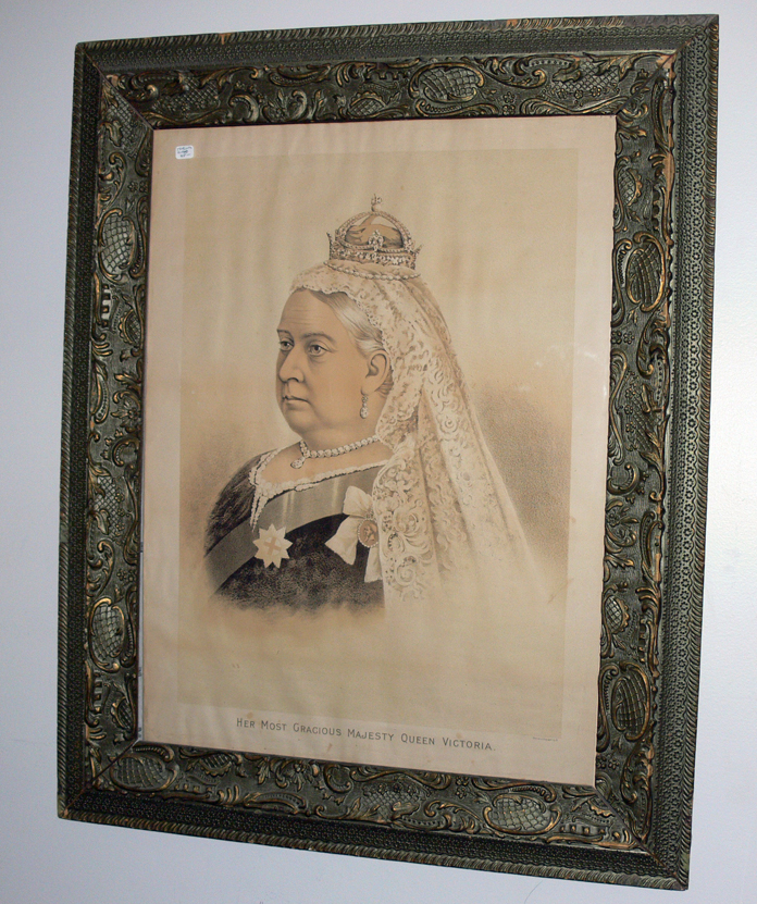 Lithograph of Queen Victoria