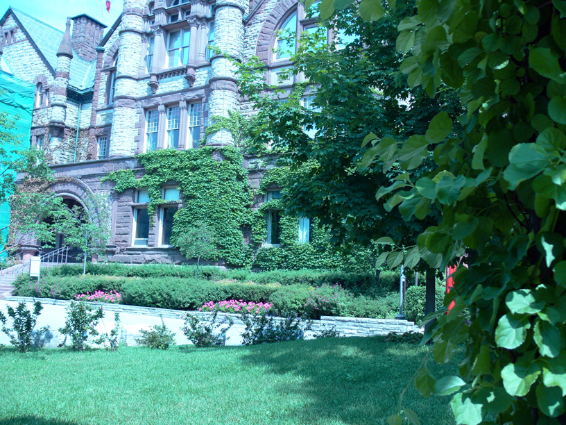 Victoria College from the Reading Garden
