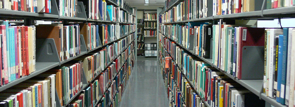 photo of library stacks (lower floor)
