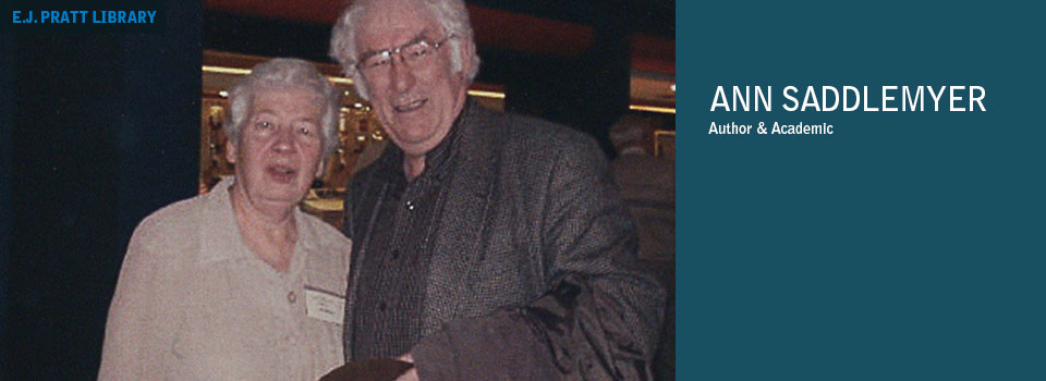 Photo of Ann Saddlemyer with Seamus Heaney