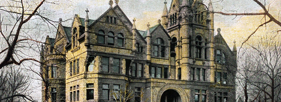 Postcard depicting Victoria College in 1908 from the archives.