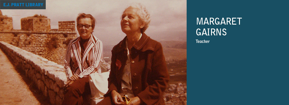 Photo of Margaret Gairns (right) and Marjorie Mann (left) in Greece 1973