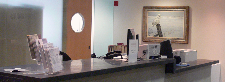 IT Support Desk on the main floor provides assistance with using information technology.