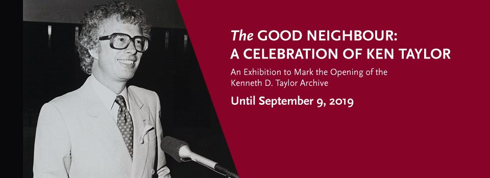 Ken Taylor Exhibition Banner