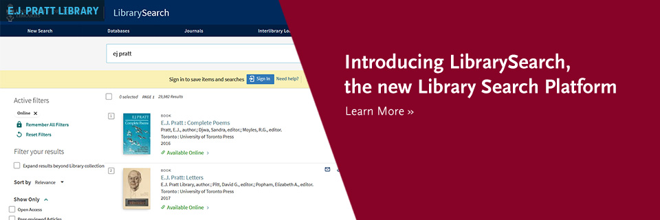 Introducing LibrarySearch, the new Library Search Platform