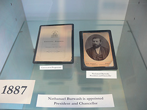 (left to right) Programme, photo of Nathanael Burwash
