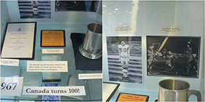 (left) Mulock Cup booklet, invitation, Champions stein (right) photos during the Mulock Cup