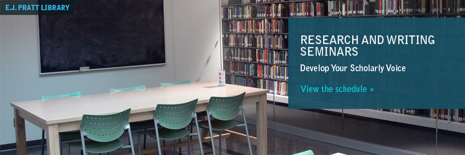 Research and Writing Seminars: Develop Your Scholarly Voice