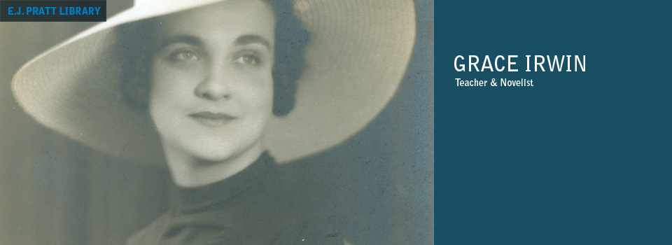 Studio photograph of Grace Irwin. 1936.