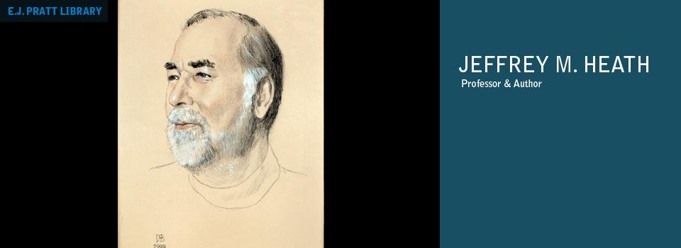 Portrait of Jeffrey M. Heath by David Blostein, hanging on third floor of the Northrop Frye Hall.