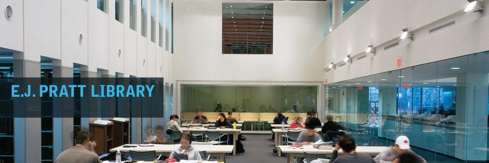 Photo of the Kathleen Coburn Reading Room, E.J. Pratt Library.